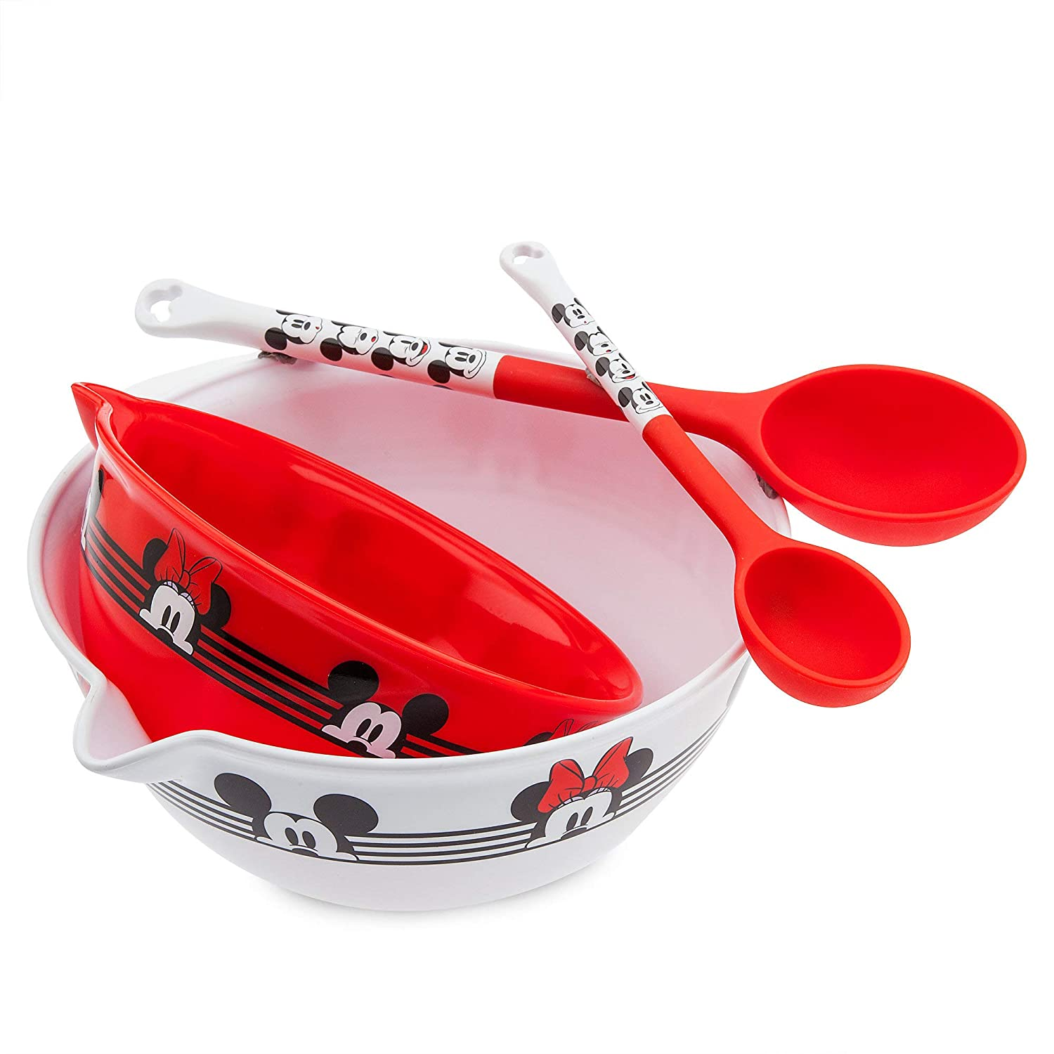 Disney Mickey and Minnie Mouse Mixing Bowl and Spoon Set Eats No Color
