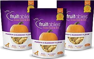 Fruitables Baked Dog Treats Pumpkin & Blueberry Flavor (3 Pack) 7 oz Each