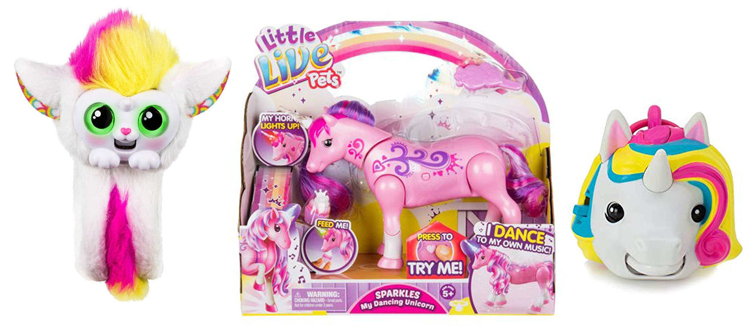 Mojimoto Little Live Wrapples – UNA, Sparkles My Dancing Unicorn, Unicorn Repeating Talk Back Toy 3