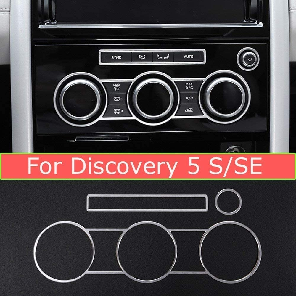 S SE Version 3Pcs YIWANG Aluminum Alloy Central Air Conditioning Knobs Audio Circle Trim Accessorires for Land Rover Discovery 5 LR5 L462 2017 2018 2019 Auto Accessories