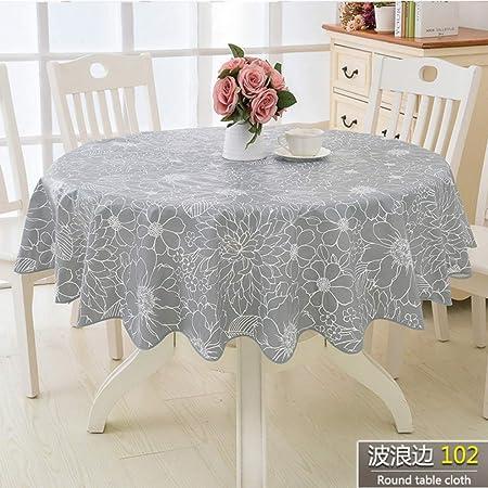 Twtiq Fleur Style Table Ronde Nappe De Cuisine En Plastique