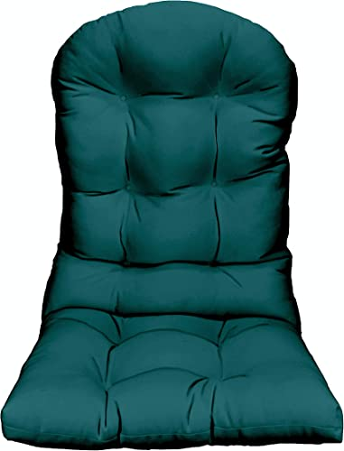 RSH D cor – Indoor Outdoor Solid Peacock Tufted Adirondack Chair Seat Cushion – Choose Color