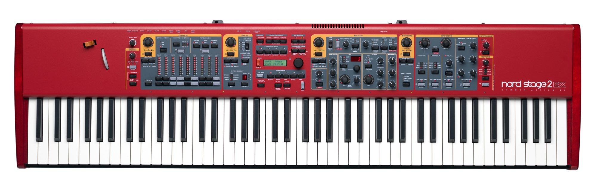 Nord Stage 2 EX 88-Key Hammer Action Keybed With LED Drawbars, A-C Key Range (NSTAGE2-EX-88)