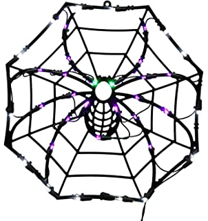 vickerman 15 lighted led spider web halloween window silhouette decoration - Spider Web Halloween