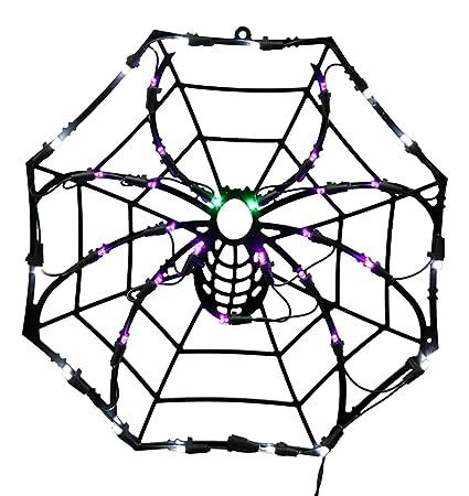 Amazon Com Vickerman 15 Lighted Led Spider Web Halloween Window
