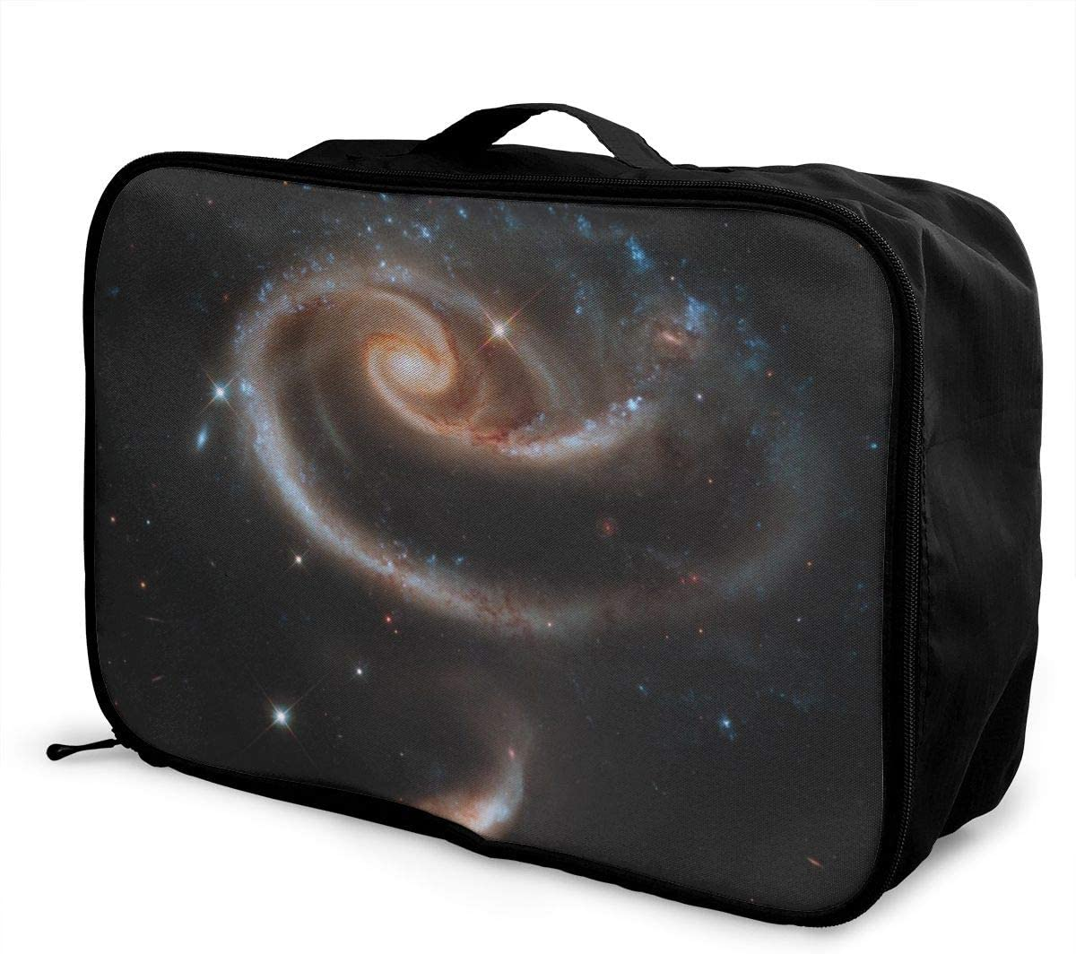 Yunshm Stars Funnel Spiral Cluster Space Galaxy Universe Astronomy Personalized Trolley Handbag Waterproof Unisex Large Capacity For Business Travel Storage