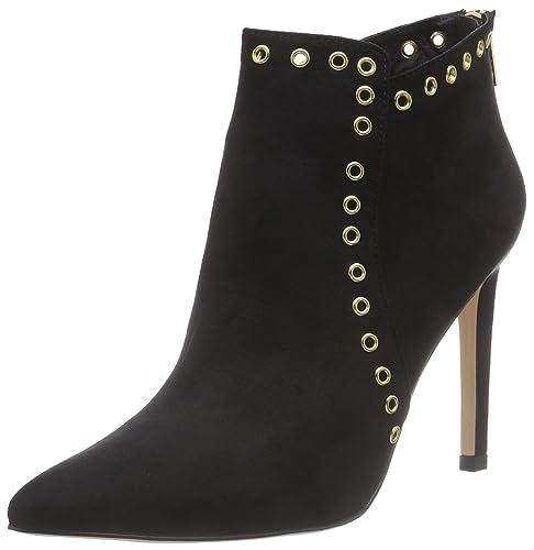 La Strada Schwarze Suède-Look Stiefeletten - Botas de Material sintético Mujer, Color Negro, Talla 36