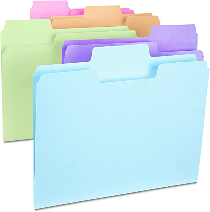 Letter Smead 11985 Green Colored Supertab File Folders With Oversized Tab