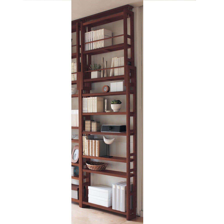 [ベルメゾン] 突っ張り 木製 シェルフ 薄型 ブラウン タイプ/幅×奥行(cm):C/75×17 B079S3B9R1
