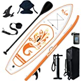 FunWater Inflatable 10'x31''x6'' Stand UP Paddle Board Ultra-Light (17lbs) Everything Included ISUP, Adj Paddle, Kayak Seat,