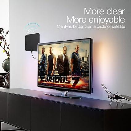Digital TV Antena, Wish Power HDTV 1080p Indoor televisor Antena ...