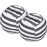Miaowater 2 PCS Stuffed Animal Storage Bean Bag Chair Cover, Cotton Canvas Beanbag with Zipper for Organizing Kid's and…