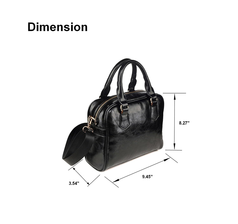 CASECOCO Floral Sugar Skull Black Women's PU Leather Purse Handbag Shoulder Bag