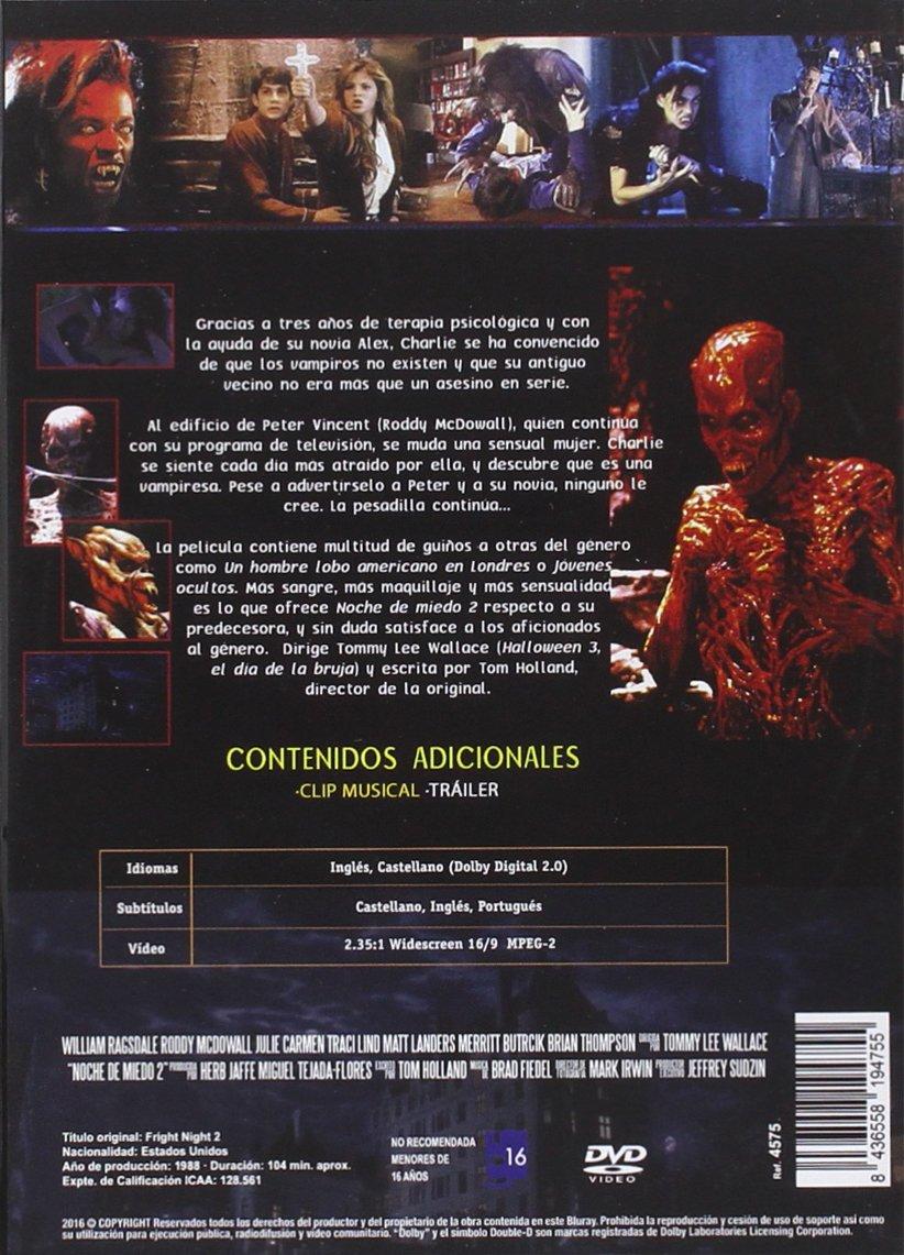 Amazon.com: Noche de Miedo 2 DVD 1988 Fright Night Part II ...