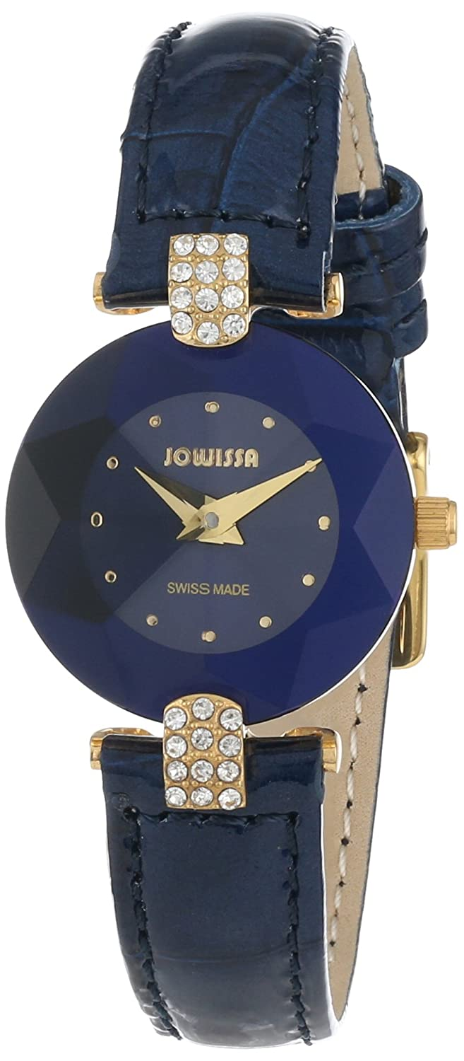 f2140512d Jowissa Facet Strass Women's Quartz Watch with Blue Dial Analogue Display  and Blue Leather Strap J5.011.S: Amazon.co.uk: Watches