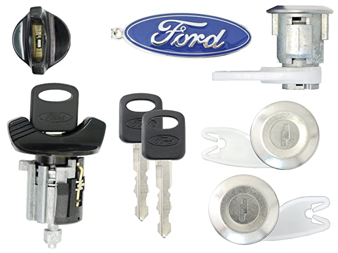 Amazon.com: Ford 1992-95 F150, F250 Pick Up Ignition and 2 Door Locks with 2 Keys (Black): Automotive