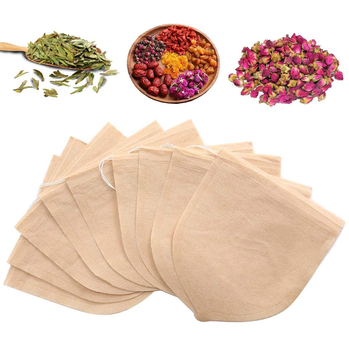 AOLVO - 100 Bolsas Desechables de Filtro de té vacías con ...