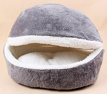 KOMIA Hamburger Style Plush Cover Blanket for Cats Indoor Sofas Bed