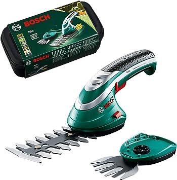 Oferta amazon: Bosch -Set de tijeras cortacésped a batería Isio (3.6V, longitud de cuchilla 12cm, distancia entre cuchillas 8mm, en caja)