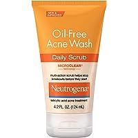Neutrogena Oil-Free Acne Face Scrub, 2% Salicylic Acid Acne Treatment, Daily Face Wash to Prevent Breakouts, Oil Free…