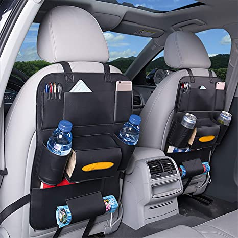 CAR BACK SEAT ORGANISER MULTI POCKET STORAGE TRAVEL TIDY BAG HOLDER KIDS TOY