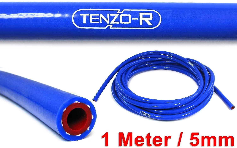 Carparts-Online 28314B Tenzo-R Performance Silikon Schlauch verst/ärkt L/änge 1M blau 5mm