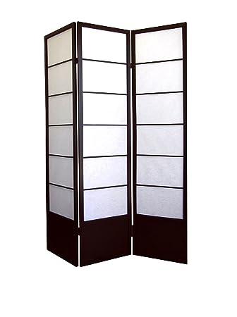Ore Furniture International Shogun 3 Panel Room Divider Espresso