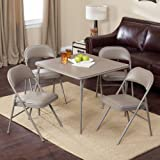 Meco Sudden Comfort Deluxe Double Padded Chair And Back   5 Piece Card  Table Set