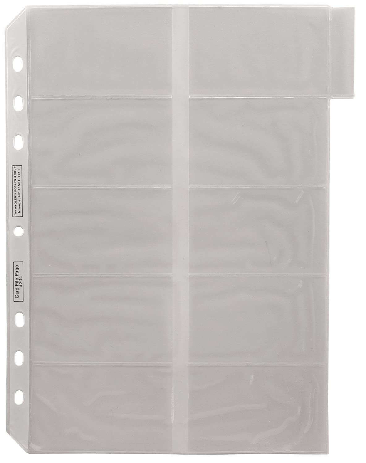 ADVANTUS Business Card Binder Tabbed Refill Pages, Frosted, See-Through, 5/Pack (ANG304)