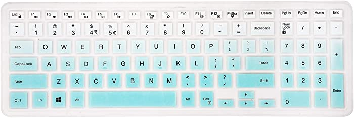 Keyboard Cover for Dell Inspiron 15 3000 5000 7000 Series/Dell Inspiron 17 5000 3000 Series/Dell G3 15 17 Series/Dell G5 15 Series/Dell G7 15 17 7786 7790 Series - Gradual Mint