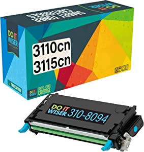 Do it Wiser Compatible Toner Cartridge Replacement for Dell 3110cn 3115cn 3110 3115 | 310-8094 - High Yield 8,000 Pages (Cyan)