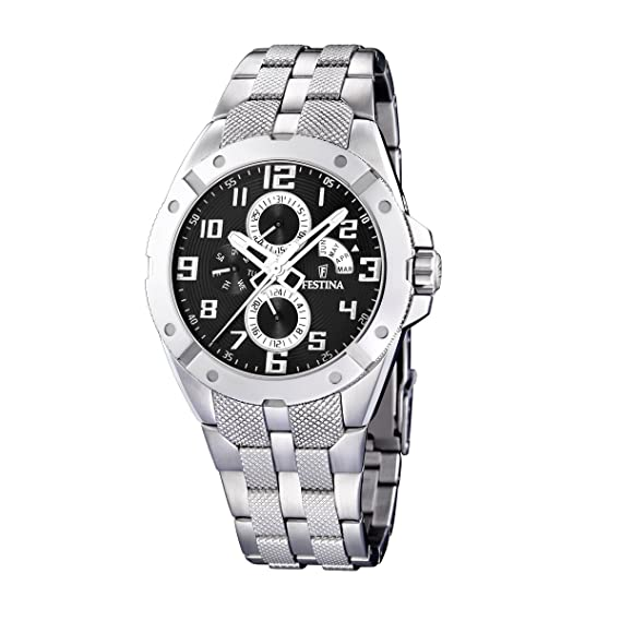 FESTINA F16388/5 - Reloj de caballero de cuarzo, correa de acero inoxidable: Festina: Amazon.es: Relojes