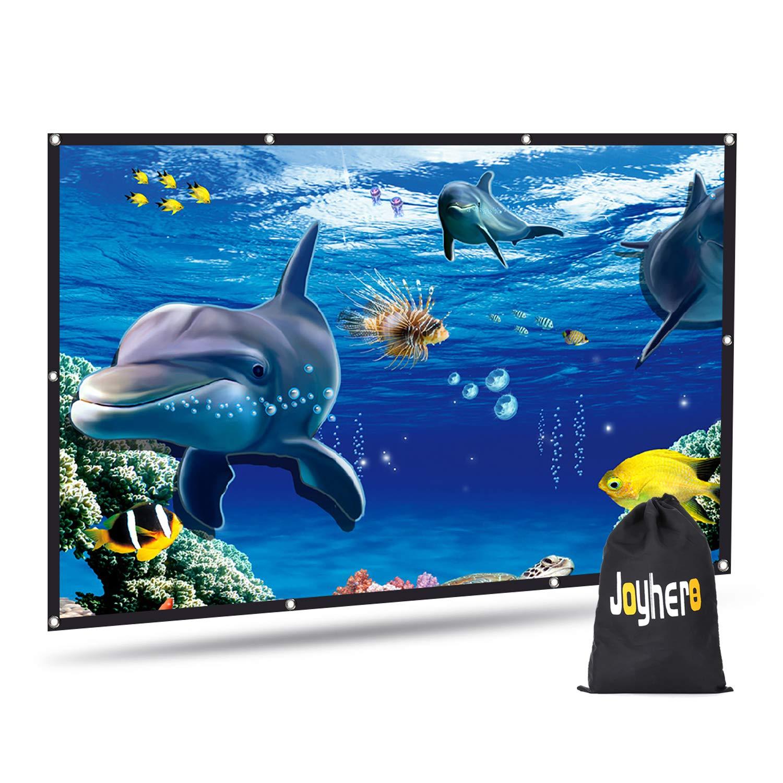 Schermo Proiettore 72 pollici Schermo Proiettore Joyhero 160x 91cm Schermo Home Cinema HD 16: 9 Schermo pieghevole per proiettore Portatile con 3D / 4D Foro appeso Tela Parete esterna / HDTV / Sport / Home Theater / Educazione