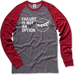 product image for Hank Player U.S.A. NASA Failure is Not an Option Men's L/S Baseball T-Shirt