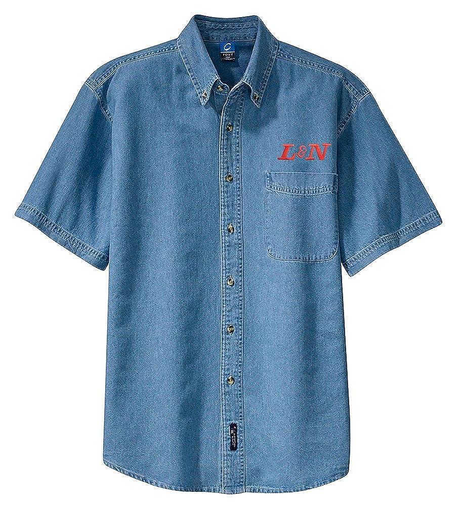 den20SS L/&N Railroad Short Sleeve Shirt White Adult XL