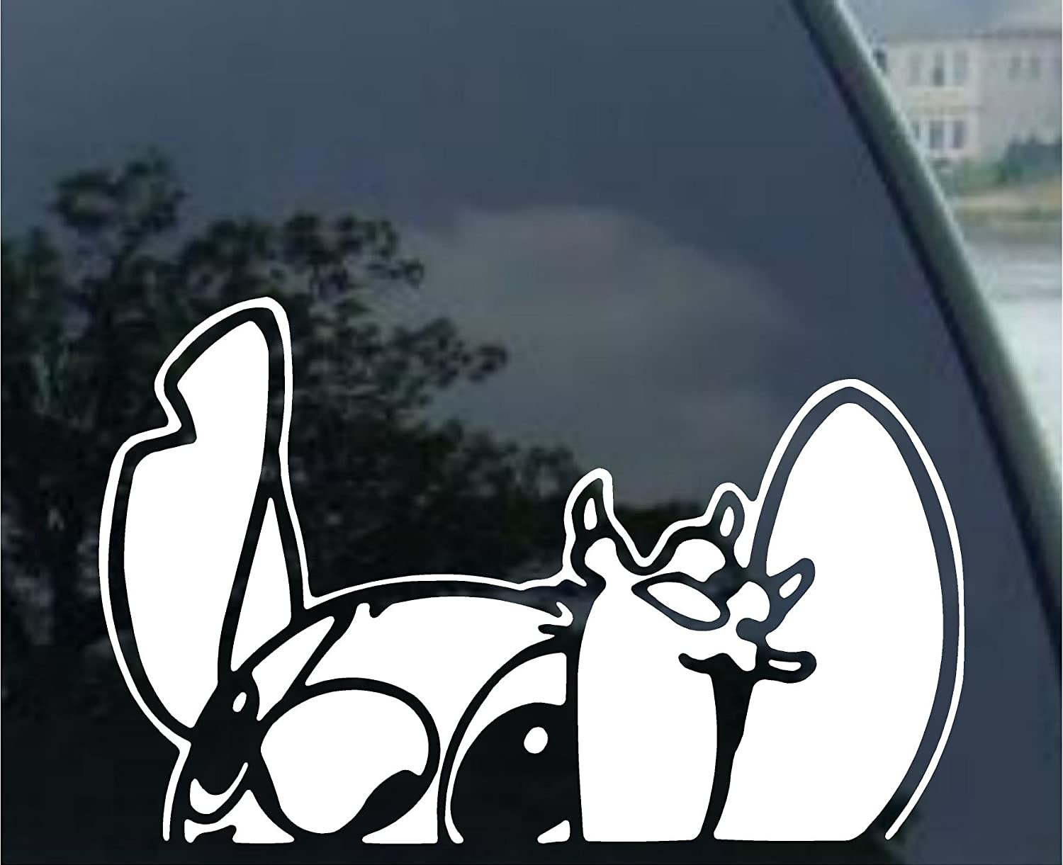 """graphix Lilo - Stitch - Waiving - Auto Window Sticker Decal for Car Truck SUV Motorcycle (5.5"""", White)"""