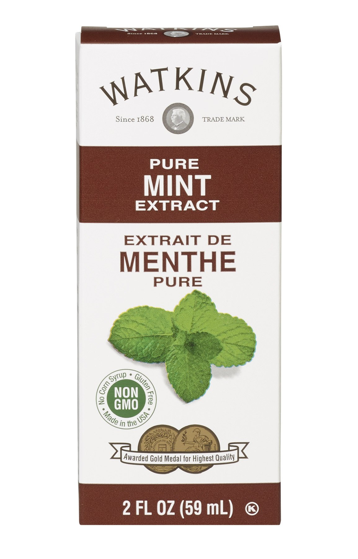 Watkins All Natural Extract, Pure Mint, 2 Ounce (Pack of 6) (Packaging may vary)