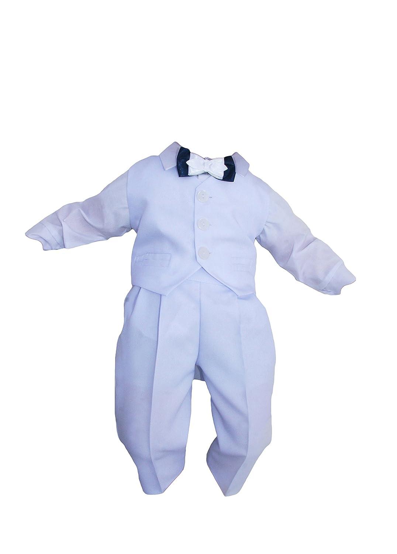 4tlg Taufanzug Baby Junge Kinder Kind Taufe Anzug Hochzeit Anz/üge Festanzug K5//4 Wei/ß