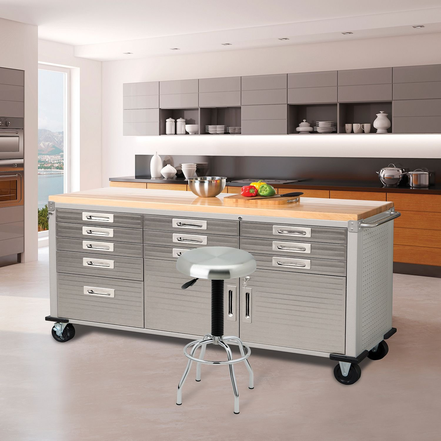 Amazon Seville Classics Ultrahd Rolling Workbench Home & Kitchen