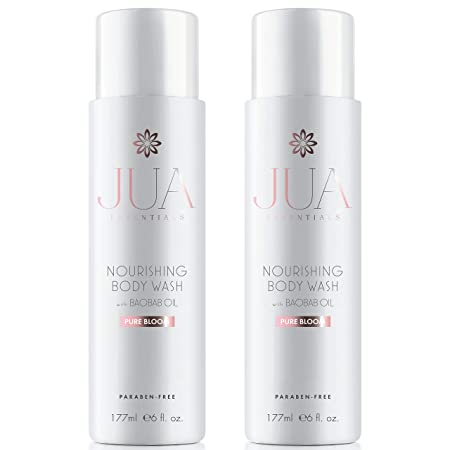 JUA Essentials Premium Nourishing Body Wash – With Baobab, Sweet Almond, Avocado and Chia Seed Oils – For Women By Hill Harper 2 Bottles