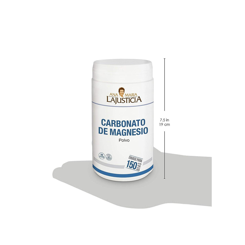 Ana Maria Lajusticia - Carbonato de magnesio – 180 gr. Disminuye el cansancio y la fatiga, mejora el funcionamiento del sistema nervioso. Apto para ...