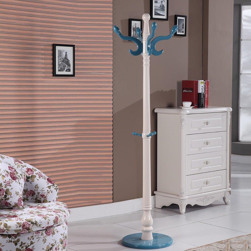 JI BIN SHOP® ファッションコートラックソリッドウッドハンガー寝室の居間立てハンガーハンガーフローリングヨーロッパスタイルのアセンブリ (色 : 7#) B07MR4KLNH 7#