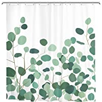 Durable Waterproof Cartoon Polyester Fabric Shower Curtain for Bathroom and Bathtubs Set with Hook, 72 x 72 inches