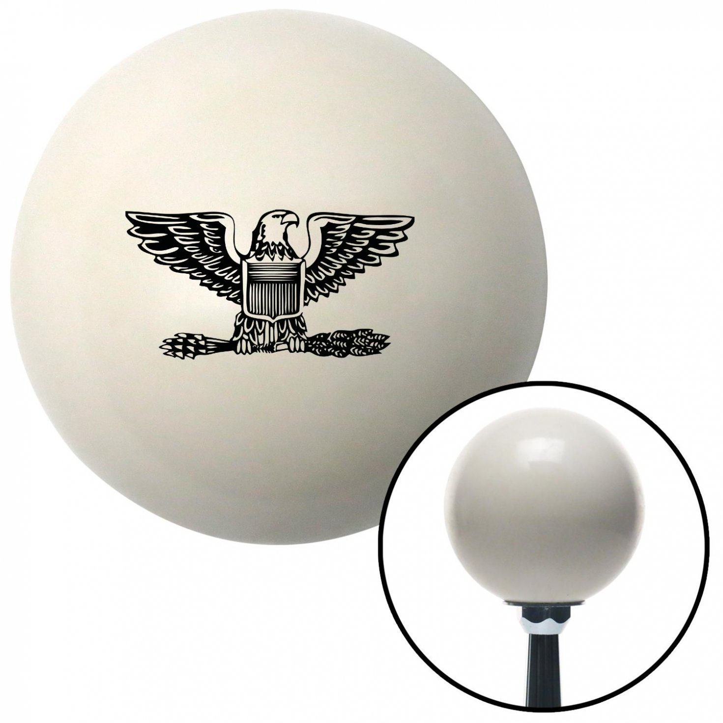 Black Colonel American Shifter 40532 Ivory Shift Knob with 16mm x 1.5 Insert