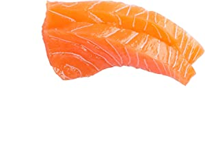 XINFU Artificial Fake Salmon Decoration Hard Glue Simulation Food Model Kitchen Toys Photography Props