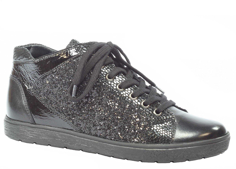 Caprice Damen Sneaker 40,5, 9-25254-019 schwarz kombi, Gr. 37 - 40,5, Sneaker Leder Schwarz 42d415