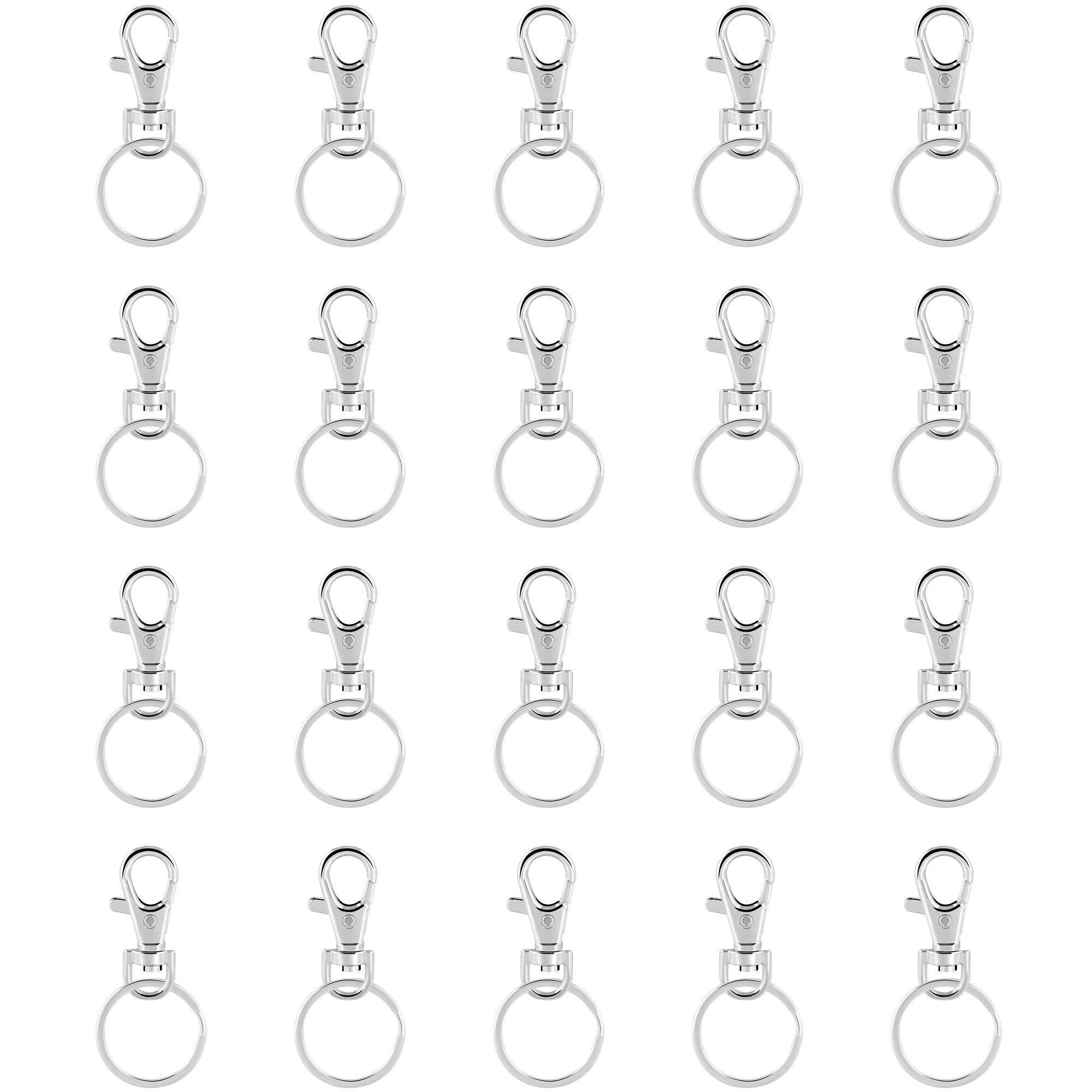 20x Lanyard Hook Swivel Snap For Paracord Lobster Clasp Clips Keyc chain