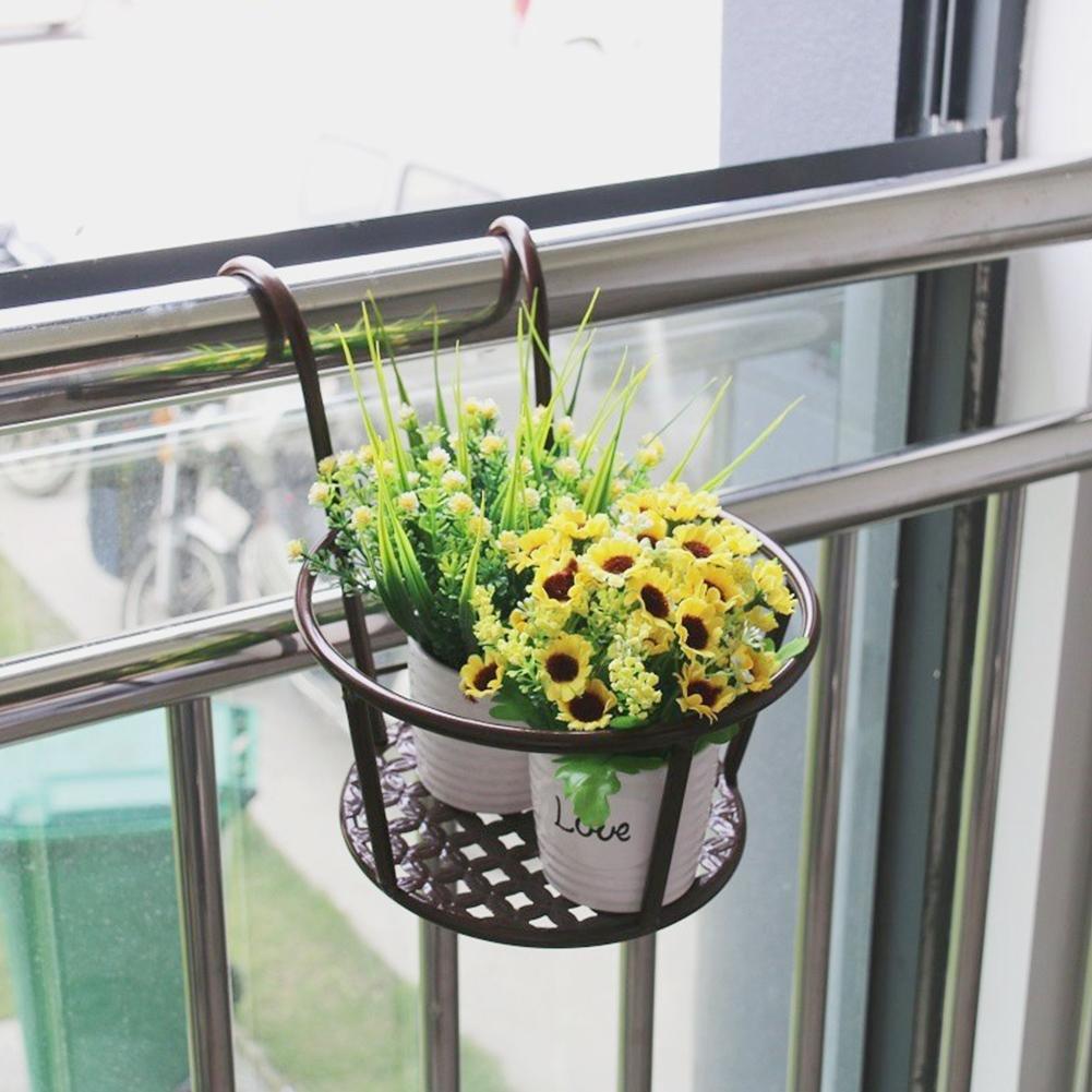 HEIRAO H/ängende Blument/öpfe aus Metall Stehen Balkon Garten Blument/öpfe Pflanzgef/ä/ße Wandbehang Metalleimer Blumenhalter Dekoration