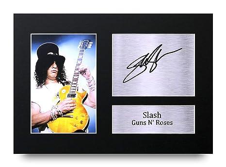 Slash Regalos A4 Dedicatoria Impresa Guns N Roses La Foto de Impresión Imagina la Demostración