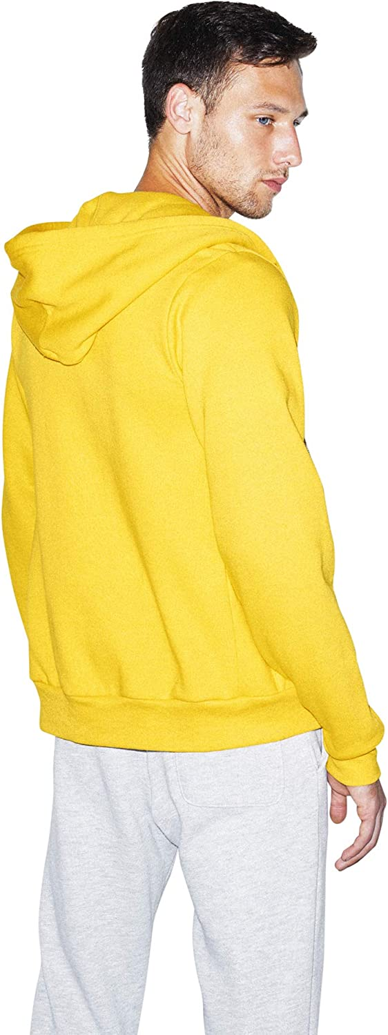 American Apparel Damen Flex Fleece Long Sleeve Zip Hoodie Kapuzenpulli Sunshine